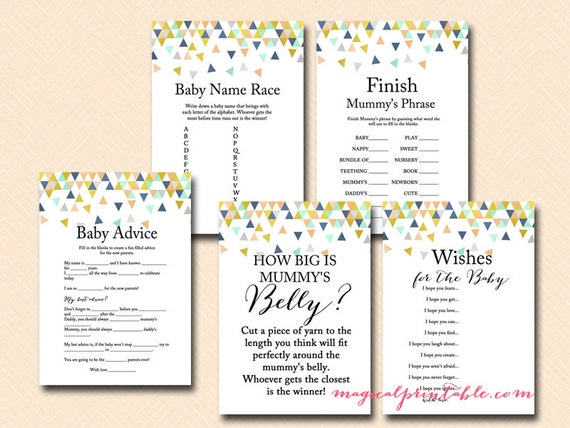 coral and mint baby shower games modern baby shower game printable
