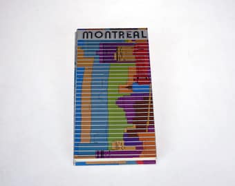Montreal Map 1976 - Games of the XXI Olympiad Montréal 1976 - Olympic Souvenir -