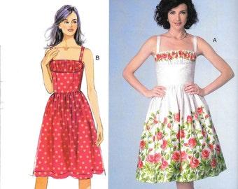 Butterick Pattern BP279 . Misses' Dress. Size 4,6,8,10,12.