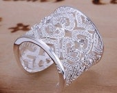 Heart Bangle Ring -FREE SHIPPING