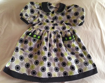 Hot Dots Black-Gray-Green Dress