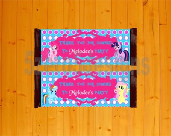 my little pony candy wrappers, my little pony party, my little pony birthday, my little pony birthday party, my little pony digital download