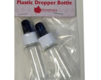 Plastic Dropper Bottles - pack of 2 bottles