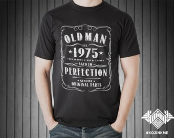 OLD MAN - Customize the date - Cotton Tee
