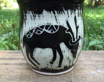 Deer Sgraffito