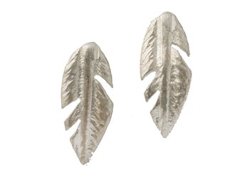 Feathers Sterling Silver Small Stud Earrings