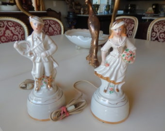 VINTAGE FIGURAL LAMPS