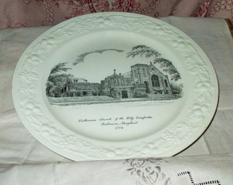 Commemorative Plate-Lutheran Church of the Holy Comforter-Vintage
