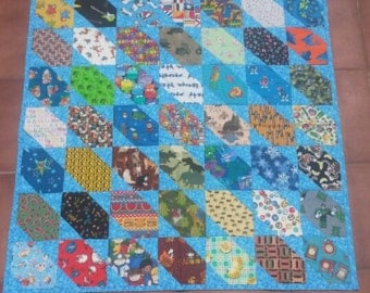 Train I Spy Baby / Toddler Quilt