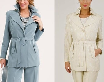 Sizes 18 to 28 .Paper sewing pattern. Trench with joke. SEWING PATTERNS DESIGNS