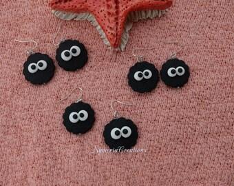 Spirit Plush Handmade Earrings- Totoro