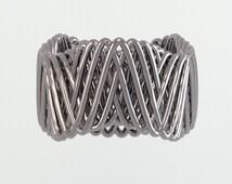 Geometric Woven Ring | Math Jewelry | Geometric Design Jewelry | Sterling Silver Ring