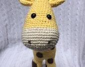 Crochet Giraffe Stuffed Animal - Handmade and 100% Cotton, Gender Neutral (Can also make custom colors)