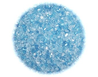 Light Blue Sugar Crystals - 4 oz