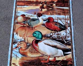 Quilting panels. Fabric panels animal. Animal fabric for quilts. Wildlife quilting fabric. Duck fabric. Hunting. Landscape. Scenic. Goose.