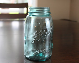 Antique Blue Mason Jar by Ball