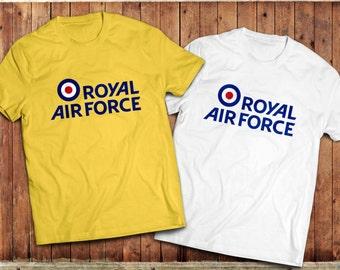 RAF T-Shirt, Royal Air Force, British Military, fighter Pilot Tee