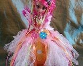 Shyla, Is a One of a Kind 10 inch  Ostrich Egg Art Doll