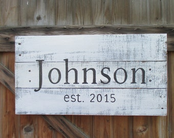 Wood Pallet Sign - Family or Last name with year established