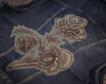 Dew - Womens Artistic Denim Vest