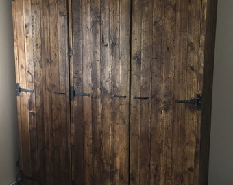 Reclaimed Pine 2 door or 3 door Wardrobe