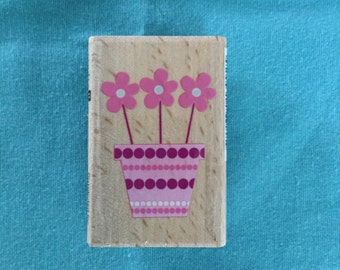 Flowers in a Pot Stamp