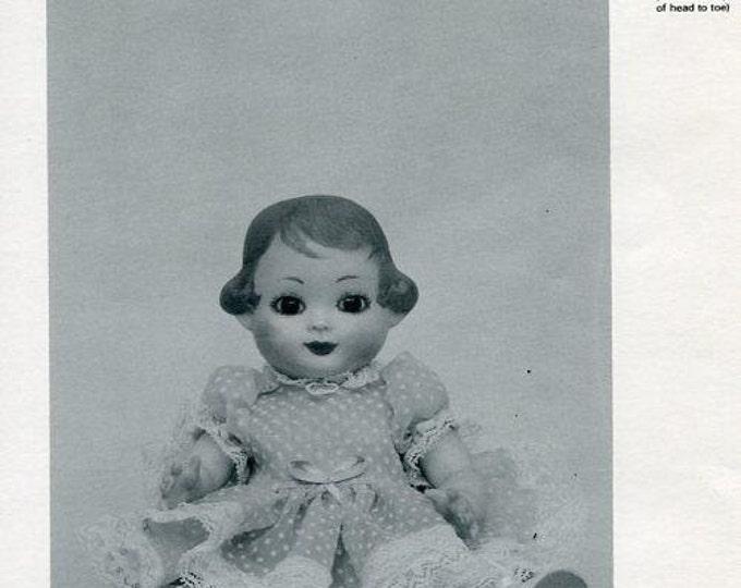 "FREE usa SHIP Byron Doll Pattern 1980's 9"" By-34 Joyce 1982 Old Store Stock Sewing Pattern"
