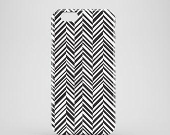 Herringbone iPhone 7 case / Black and white phone case / heritage iPhone 6 case / graphic iPhone 7 Plus case / summer iPhone 6 / iPhone SE