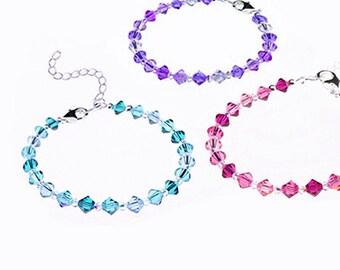 Bracelet, Swarovski,  Crystal & Sterling Silver clasp - Any Size