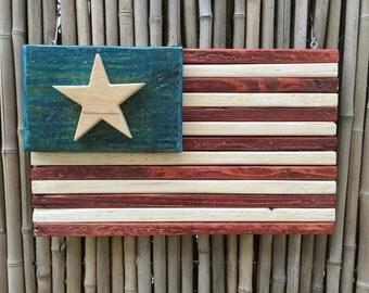 Wooden Flags,Wooden American Flag Wooden American Flag - Handmade Wooden American Flag - Wood American Flag - Reclaimed Wood American Flag