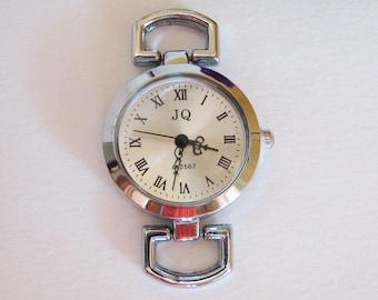 DIY antique Silver w a t c h  f a c e, round quartz dial