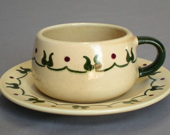Metlox Poppytrail Homestead Provincial Cup and Saucer Vintage Discontinued 1950-82