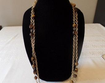 Tiger Eye Necklace Vintage