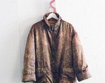 Vintage paisley bomber jacket.