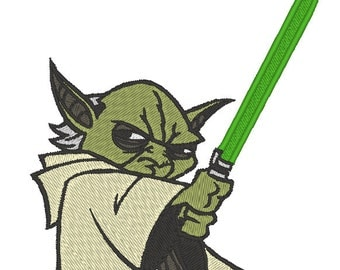 Yoda Star Wars Embroidery Design.  3 hoop sizes