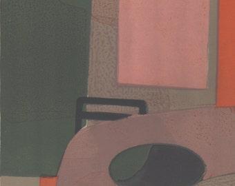 André Minaux (1923-1986) 'Interieur' Original Mid-Century Lithograph