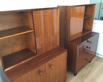 Herman Miller George Nelson, cabinets, duo (2x). Unusual model. Just restored.