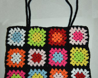 bag to hands in cotton multicolor dimensions 33cm wide 28 cm high