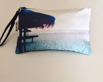 Digital print hand bag  Clutch  Beach umbrella