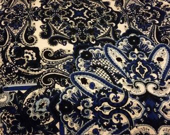 Blue print polyester