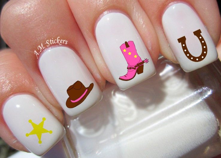 72 Cowgirl Nail Decals