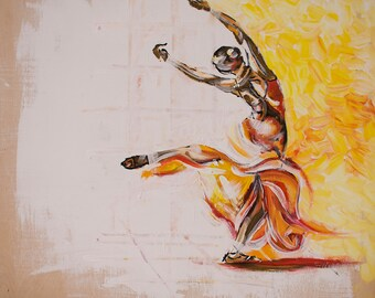 Original painting / Wall Art / Modern Art / Artwork / Fine art / Hand painting / Art work / Dance wall art / Dancing art / Dance artwork