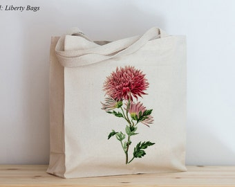 Canvas tote bags - Bag - Tote - Beach tote - Botanical - Antique