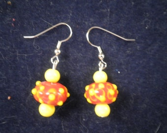 Earrings 018 Mustard & Ketchup