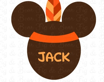 Disney Thanksgiving Mickey Mouse Boys T Shirt Iron On Transfer Personalized FREE