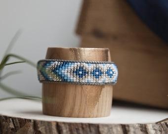Blue Diamond beaded bracelet