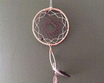 "6"" 3 bead handmade dreamcatcher"