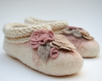 Handmade Felted Shoes For Kids Size UK5
