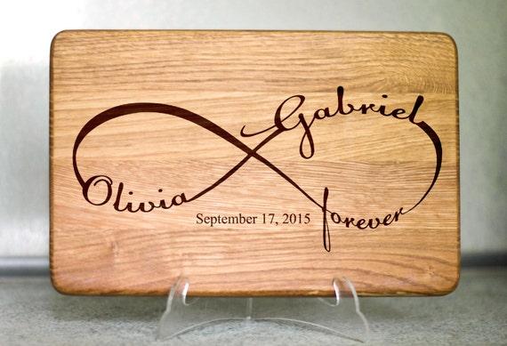 Wedding Gift Cutting Board: Personalized Cutting Board Wedding Gift By HeartwarmingGift