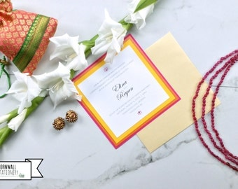 Lotus Wedding Invitation  |  Customization Deposit